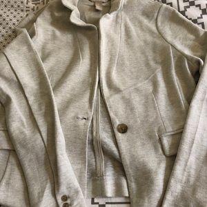 Oatmeal colored Jersey Jacket Blazer
